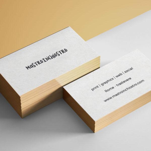 MASTROiNCHIOSTRO buisiness cards biglietti visita letterpress brodercoloers labbratura
