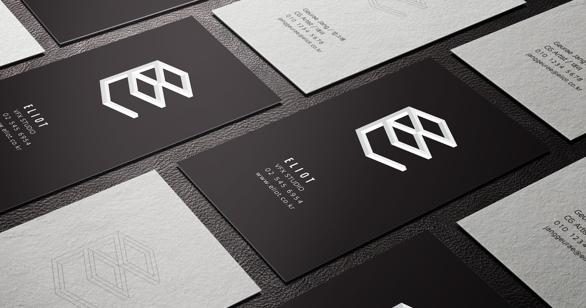 MASTROiNCHIOSTRO business cards hotfoil print black paper, white print