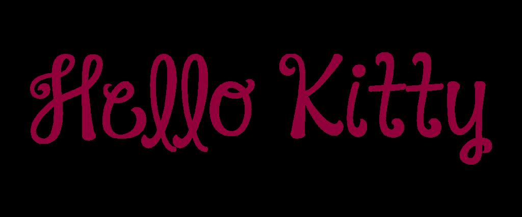 hELLO kITTY: LA FONT DEDICATA AL GATTO PIù FAMOSO DEL MONDO | mastroInchiostro