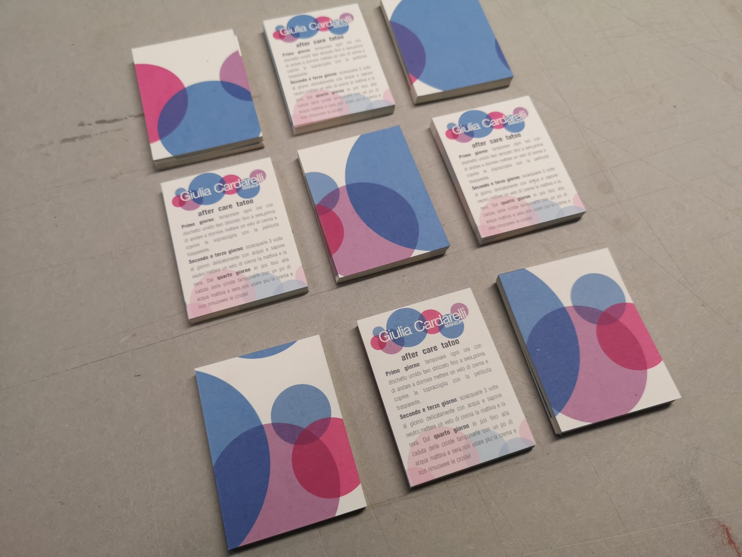 Giulia Cardarelli Make Up artist business cards | MASTROiNCHIOSTR
