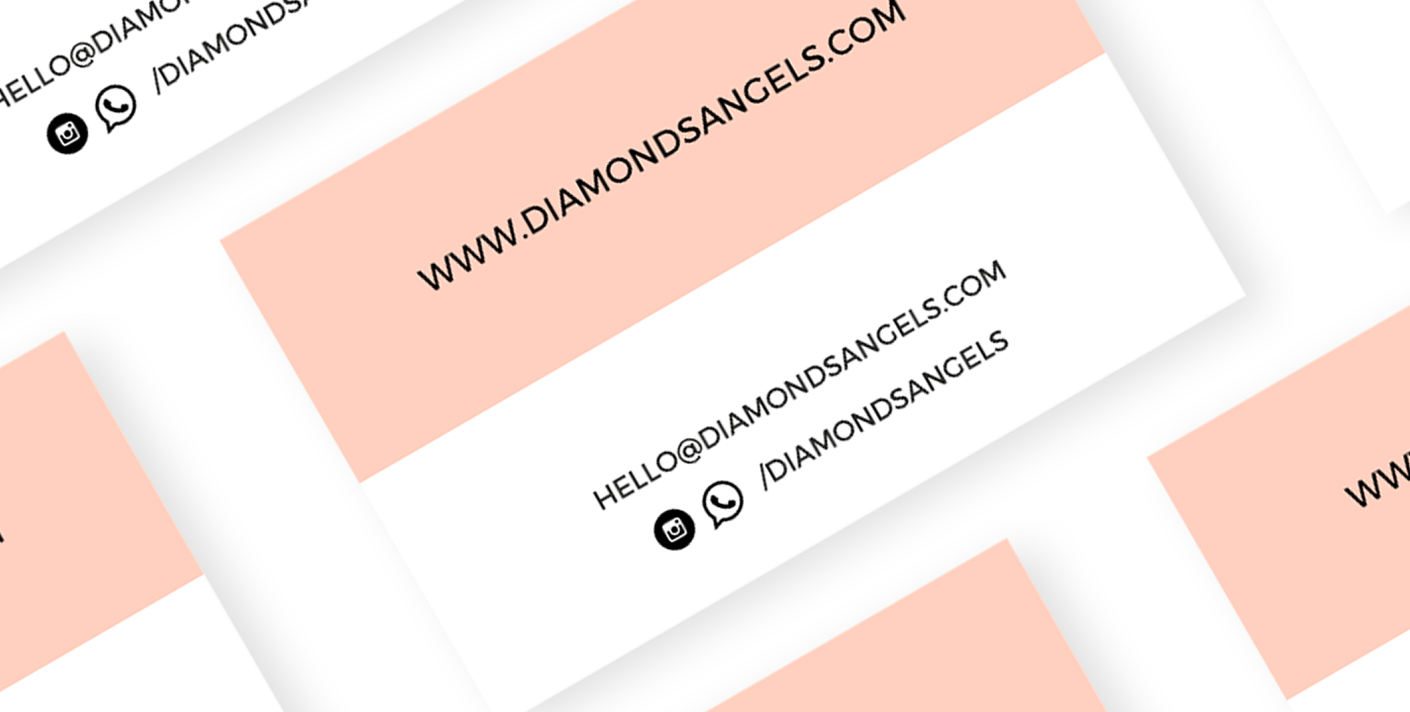Diamonds Angels business cards collection | MASTROiNCHIOSTRO