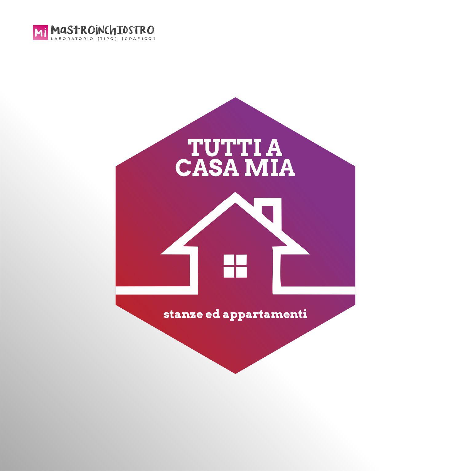 branding logo Tutti a casa mia | MASTROiNCHIOSTRO