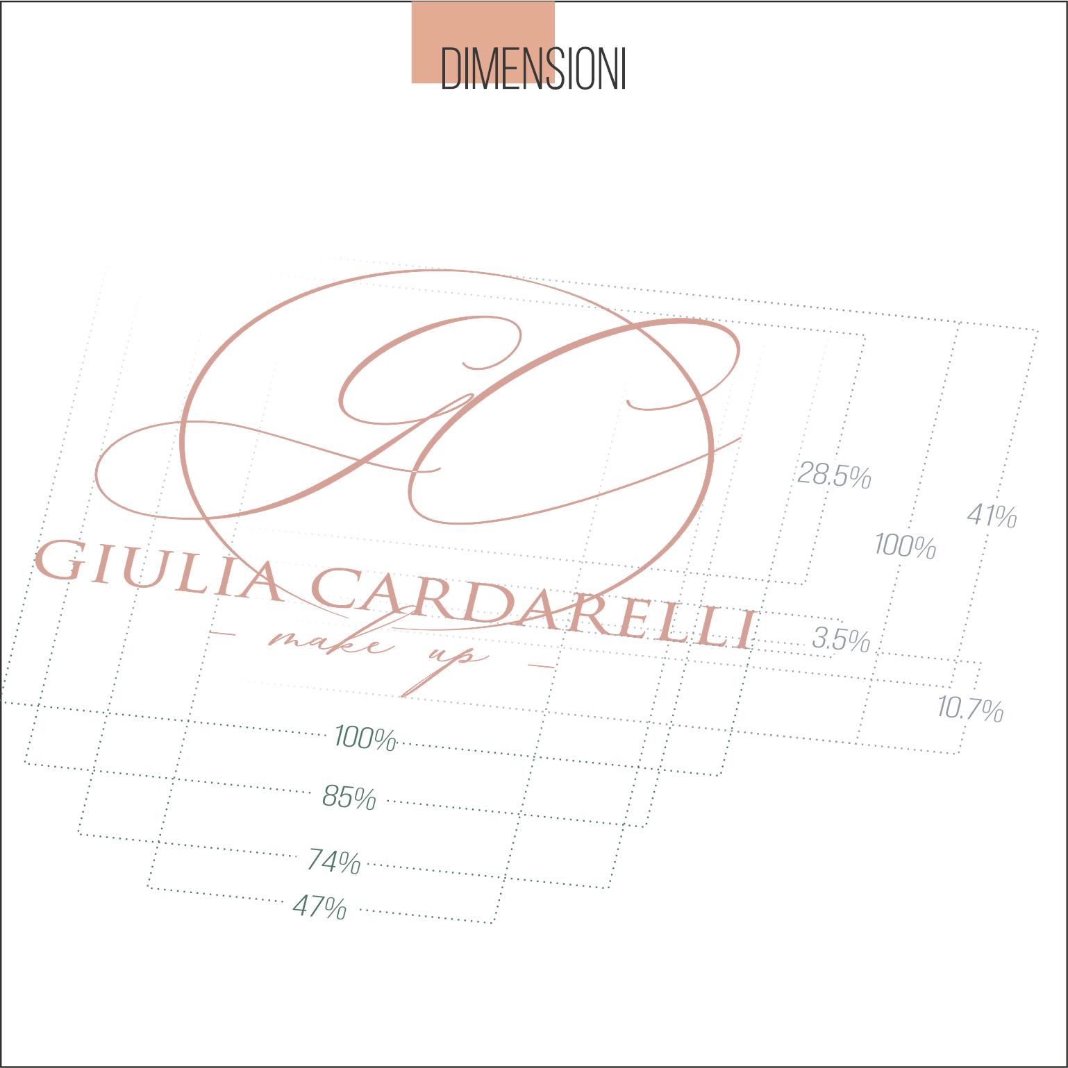 Giulia Cardarelli Make Up logo brand | MASTROiNCHIOSTRO